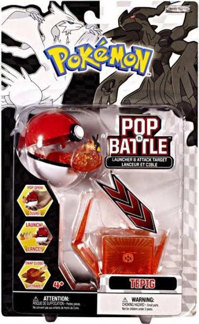 Pokemon Black & White Series 1 Pop n' Battle Tepig Launcher
