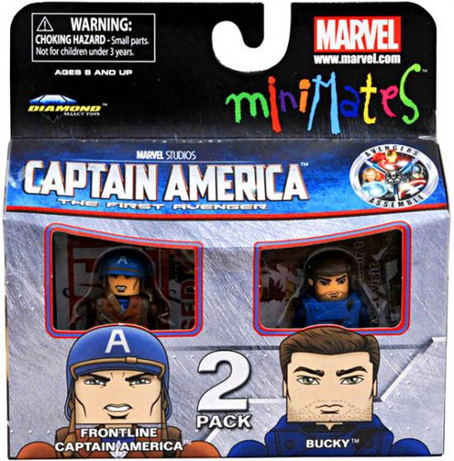 Captain America The First Avenger Minimates Series 40 Frontline Captain America & Bucky Minifigure 2-Pack