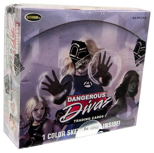 Marvel Dangerous Divas Trading Card Box