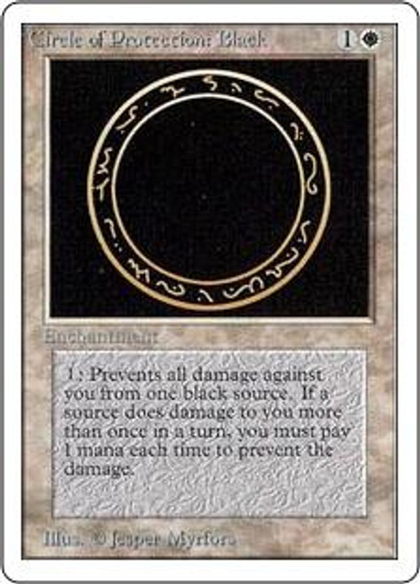 MtG Unlimited Common Circle of Protection: Black