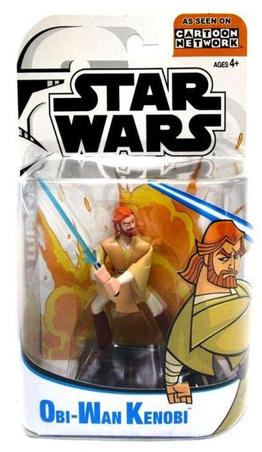 Star Wars The Clone Wars Clone Wars Cartoon Network Obi-Wan Kenobi Action Figure