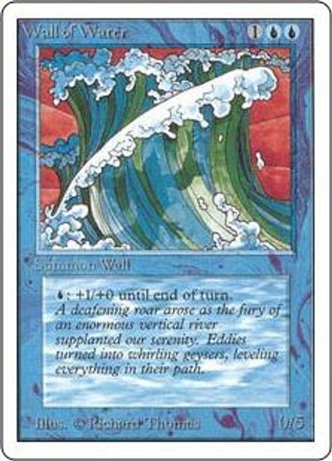 MtG Unlimited Uncommon Wall of Water