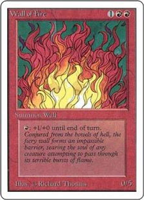 MtG Unlimited Uncommon Wall of Fire