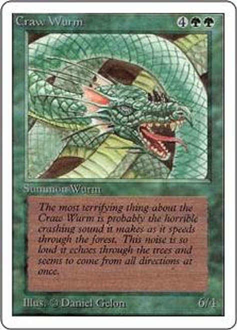 MtG Unlimited Common Craw Wurm