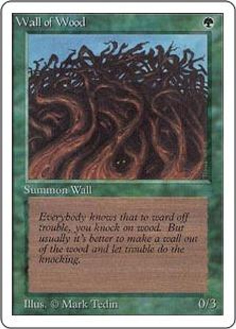 MtG Unlimited Common Wall of Wood
