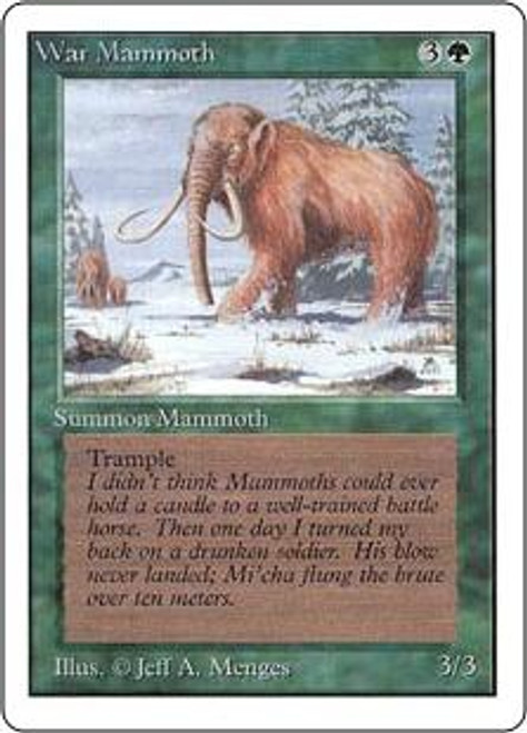 MtG Unlimited Common War Mammoth