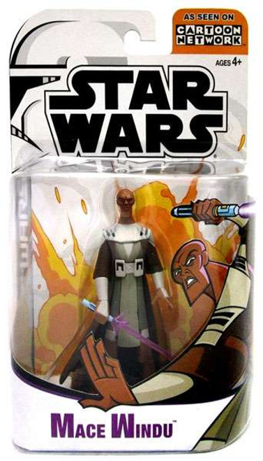 Star Wars The Clone Wars Clone Wars Cartoon Network Mace Windu Action Figure