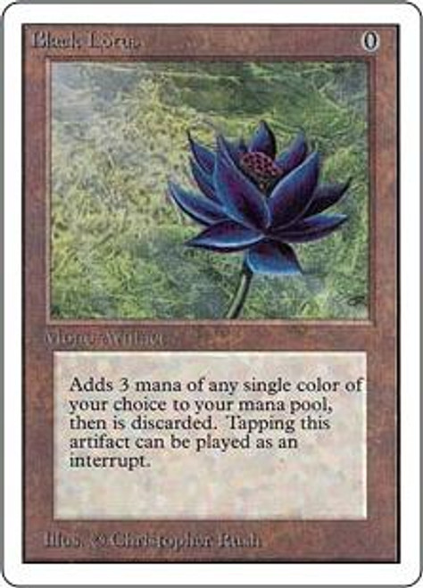 MtG Unlimited Rare Black Lotus [Very Slightly Played]