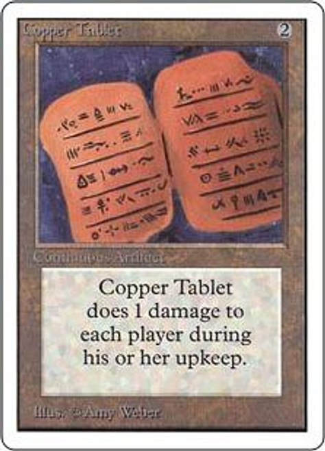 MtG Unlimited Uncommon Copper Tablet