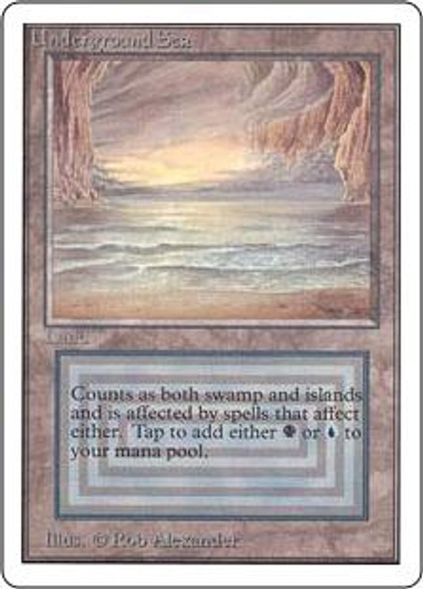 MtG Unlimited Rare Underground Sea [Mildly Played]