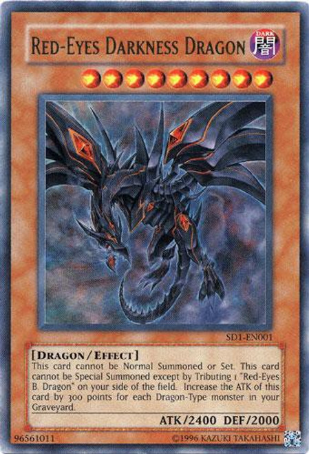 YuGiOh GX Structure Deck: Dragon's Roar Ultra Rare Red-Eyes Darkness Dragon SD1-EN001