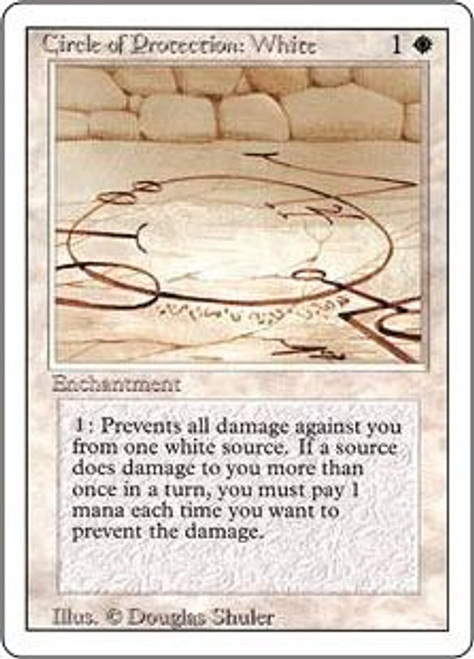 MtG Revised Common Circle of Protection: White