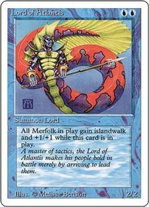 MtG Revised Rare Lord of Atlantis