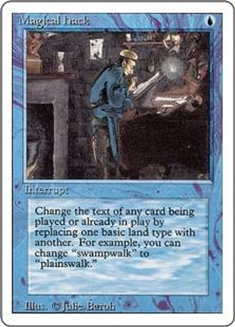 MtG Revised Rare Magical Hack [Slightly Played Condition]