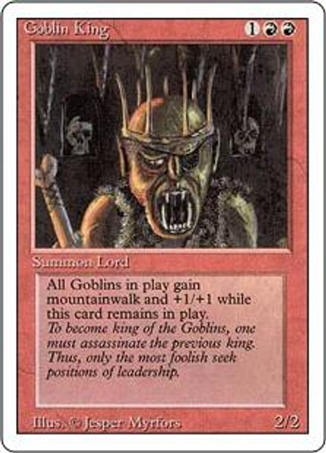 MtG Revised Rare Goblin King