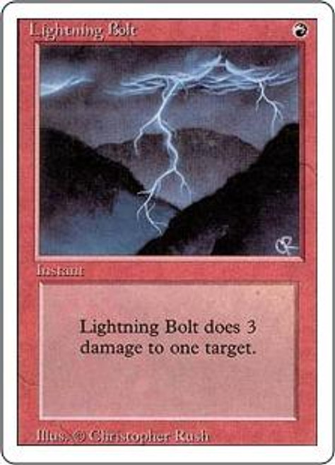 MtG Revised Common Lightning Bolt