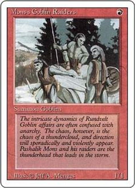 MtG Revised Common Mons's Goblin Raiders