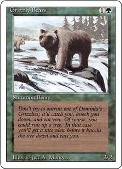 MtG Revised Common Grizzly Bears