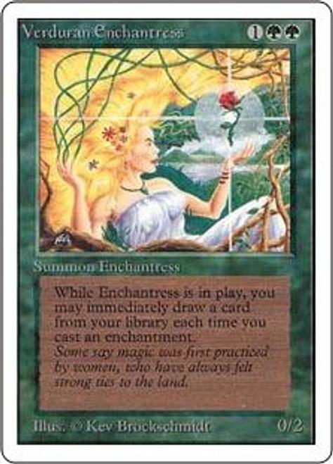 MtG Revised Rare Verduran Enchantress [Slightly Played Condition]