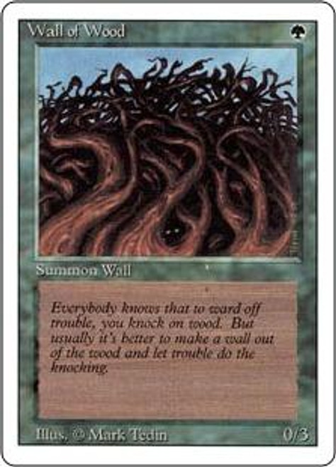 MtG Revised Common Wall of Wood