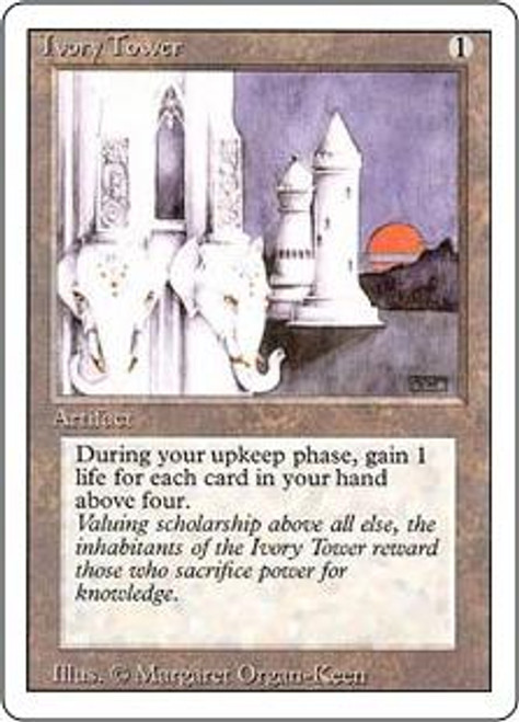 MtG Revised Rare Ivory Tower [Poor Condition]