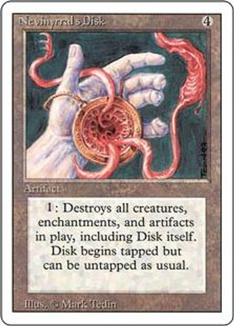 MtG Revised Rare Nevinyrral's Disk [Slightly Played Condition]