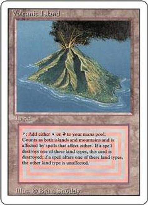MtG Revised Rare Volcanic Island