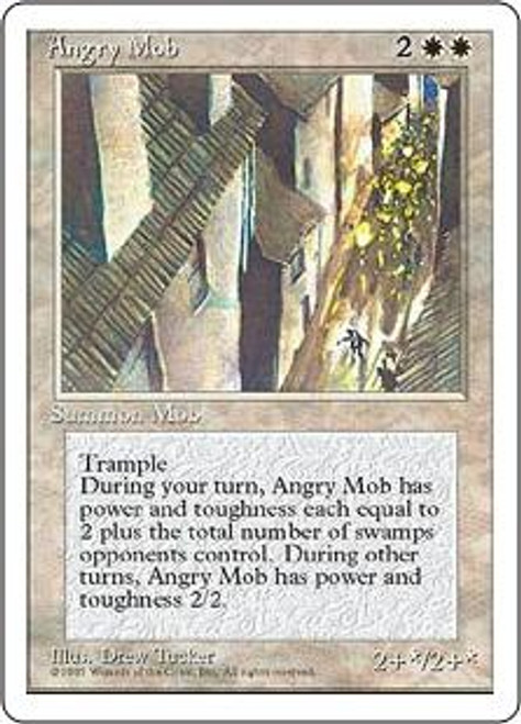 MtG 4th Edition Uncommon Angry Mob [Played Condition]