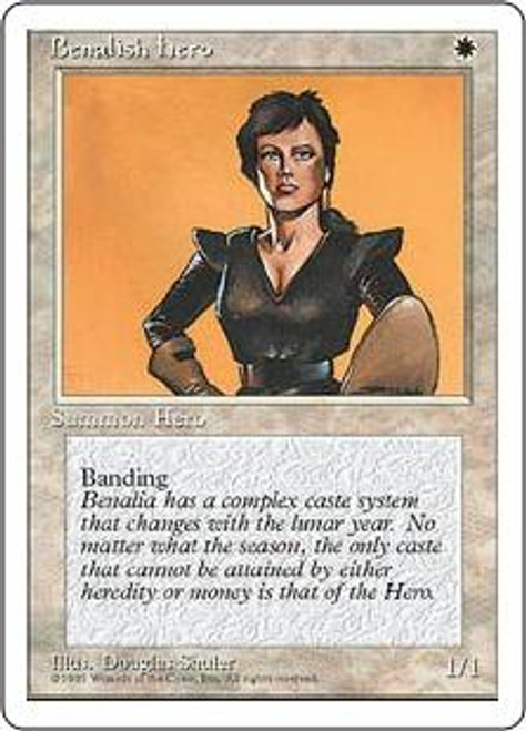 MtG 4th Edition Common Benalish Hero