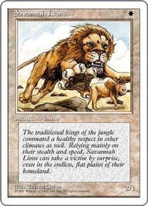 MtG 4th Edition Rare Savannah Lions