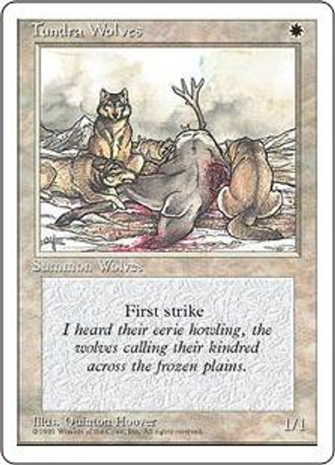 MtG 4th Edition Common Tundra Wolves