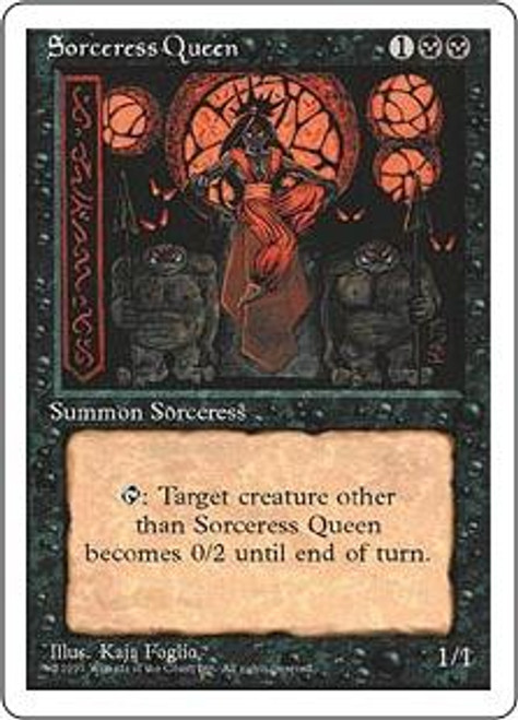 MtG 4th Edition Rare Sorceress Queen [Slightly Played Condition]