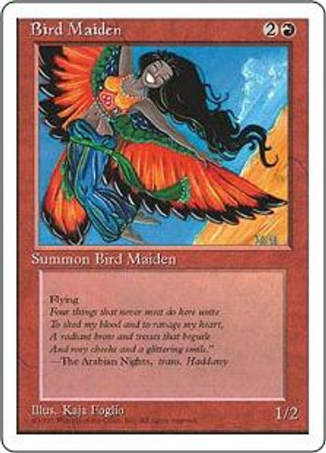 MtG 4th Edition Common Bird Maiden