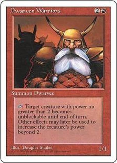 MtG 4th Edition Common Dwarven Warriors
