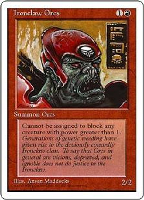 MtG 4th Edition Common Ironclaw Orcs