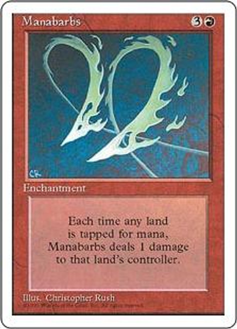MtG 4th Edition Rare Manabarbs [Played Condition]