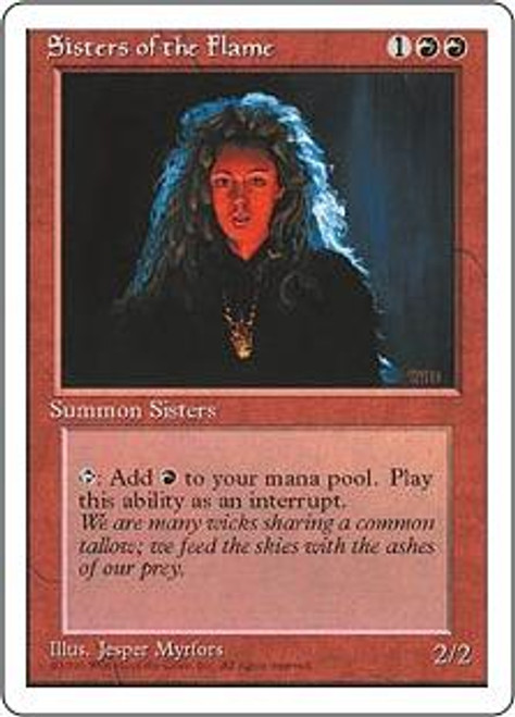 MtG 4th Edition Common Sisters of the Flame