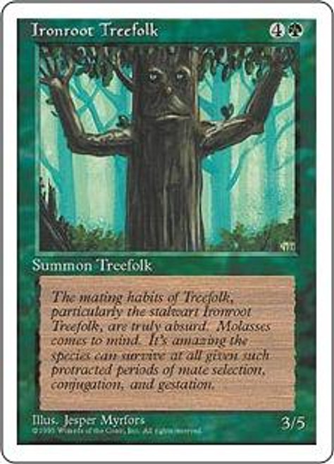 MtG 4th Edition Common Ironroot Treefolk
