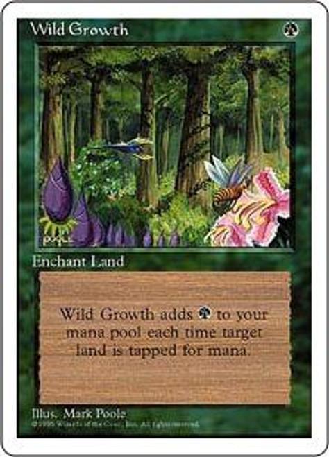 MtG 4th Edition Common Wild Growth