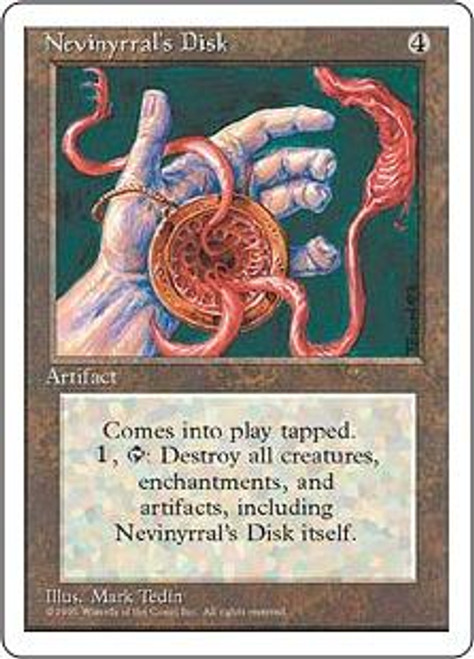 MtG 4th Edition Rare Nevinyrral's Disk