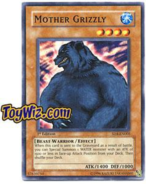 YuGiOh GX Structure Deck: Fury from the Deep Common Mother Grizzly SD4-EN005