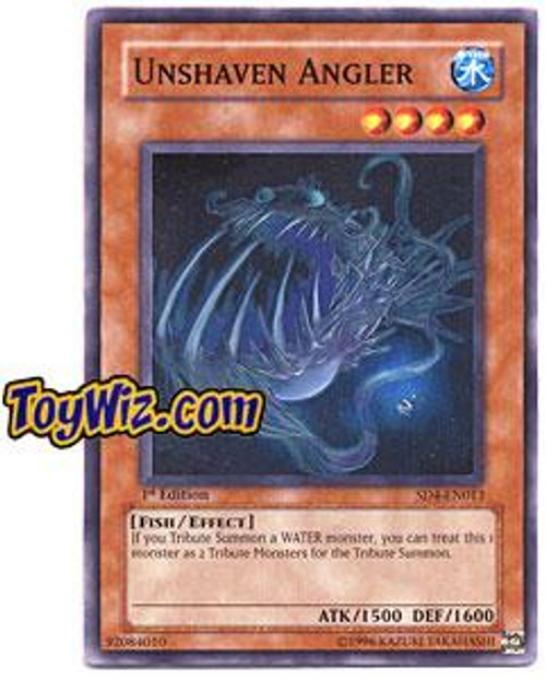 YuGiOh GX Structure Deck: Fury from the Deep Common Unshaven Angler SD4-EN013