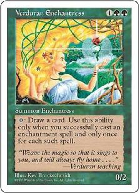 MtG 5th Edition Rare Verduran Enchantress