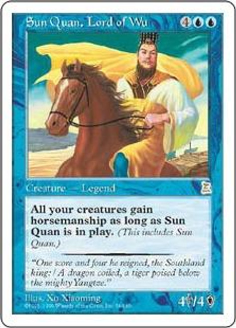 MtG Portal Three Kingdoms Rare Sun Quan, Lord of Wu #56