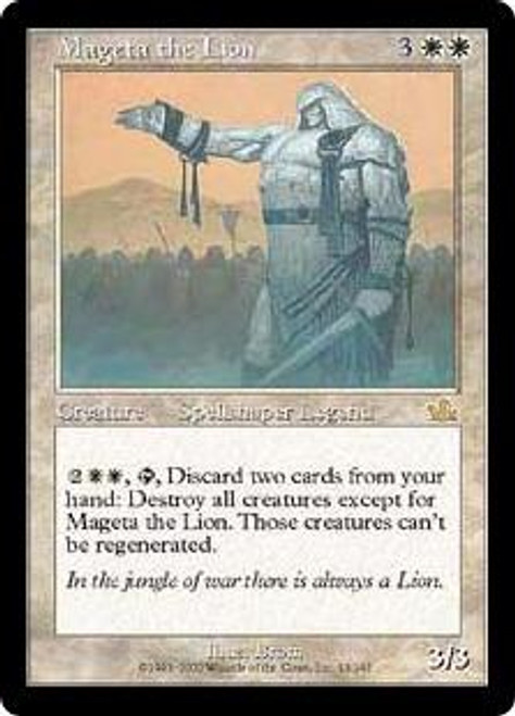MtG Prophecy Rare Mageta the Lion #13 [Played Condition]
