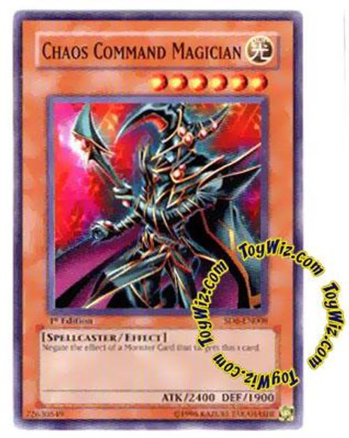 YuGiOh Structure Deck: Spellcaster's Judgment Common Chaos Command Magician SD6-EN008