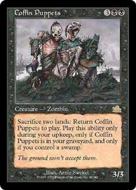 MtG Prophecy Rare Coffin Puppets #60 [Played Condition]
