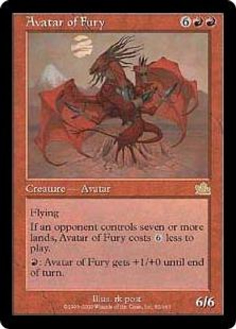 MtG Prophecy Rare Avatar of Fury #82 [Played Condition]