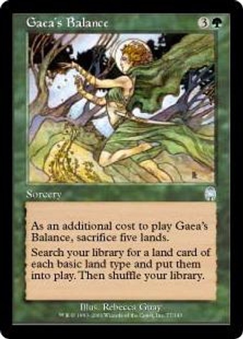 MtG Apocalypse Uncommon Gaea's Balance #77