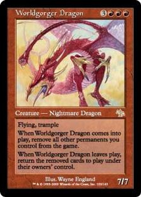 MtG Judgment Rare Worldgorger Dragon #103